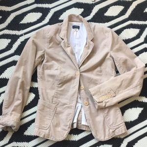J. Crew Corduroy blazer boyfriend jacket tall tan
